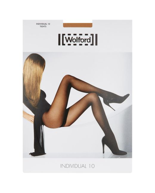 Wolford - Natural Individual 10 Tights - Lyst