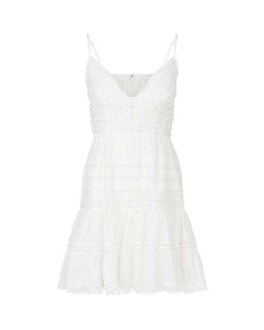 Zimmermann - White Iris Camisole Mini Dress - Lyst