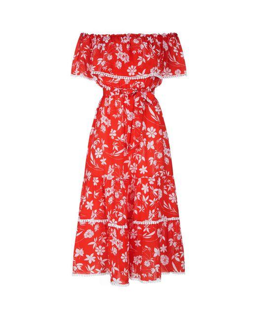 Athena Procopiou - Red Bardot Gypsy Dress - Lyst