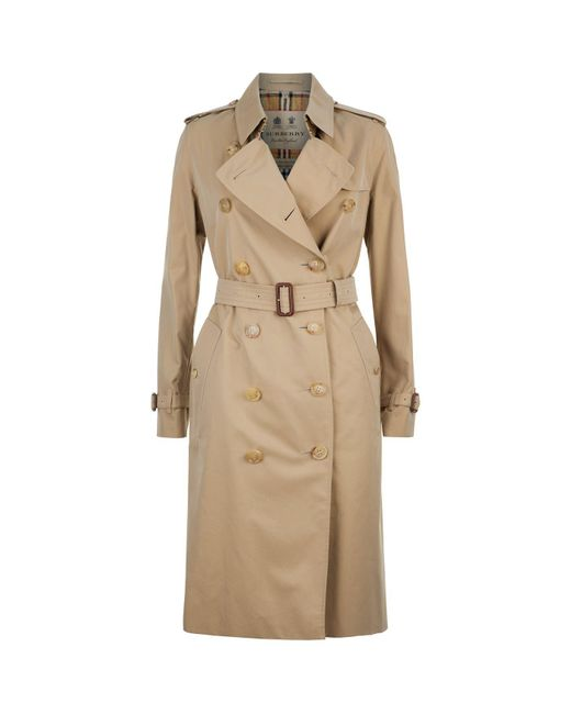 Burberry - Yellow Chelsea Heritage Trench Coat - Lyst