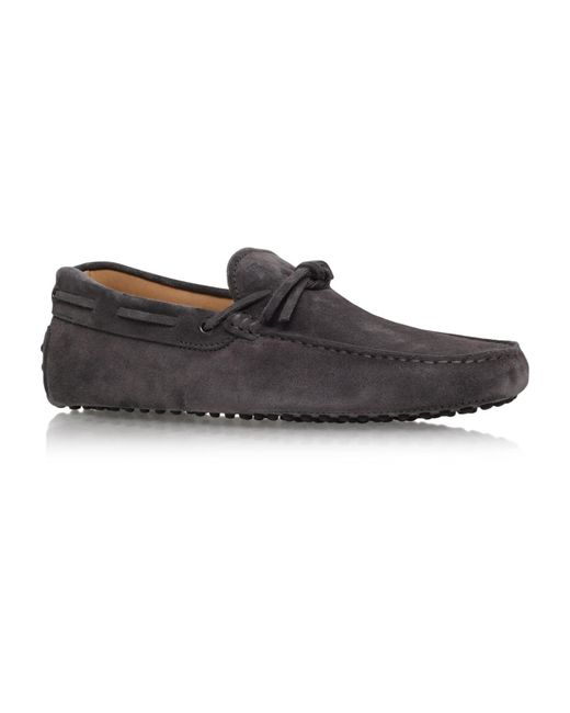 Tod's - Gray City Tie Driver Shoes for Men - Lyst