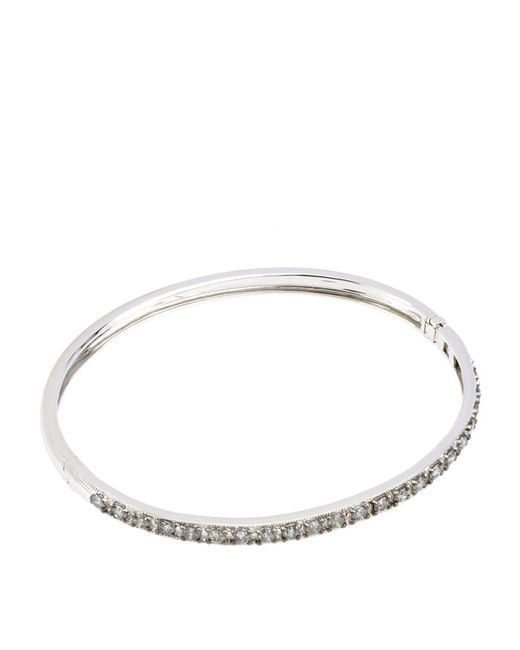 Annoushka - Metallic White Gold Dusty Diamonds Bangle - Lyst