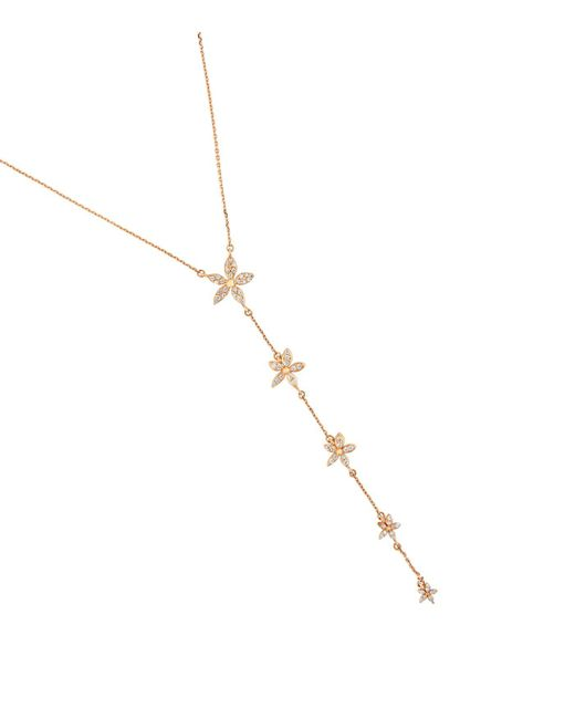Bee Goddess - White Rose Gold And Diamond Apple Seed Necklace - Lyst