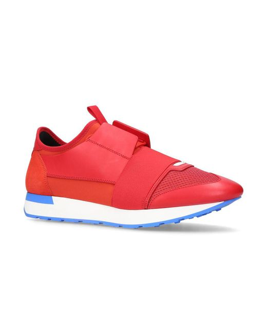 Balenciaga - Red Panelled Race Runner Sneakers for Men - Lyst
