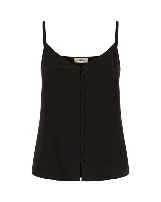 L'Agence - Black Emiliana Camisole Top - Lyst