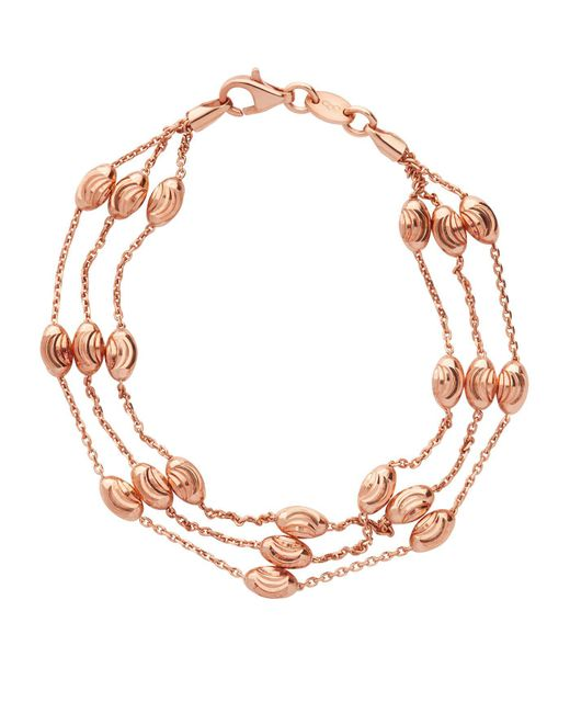 Links of London - Metallic Beaded 2 Row Chain Bracelet - Lyst