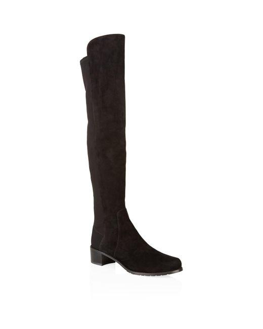 Stuart Weitzman - Brown Reserve Suede Over-The-Knee Boots - Lyst