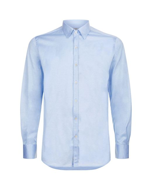 Canali | Blue Cotton Stretch Shirt for Men | Lyst