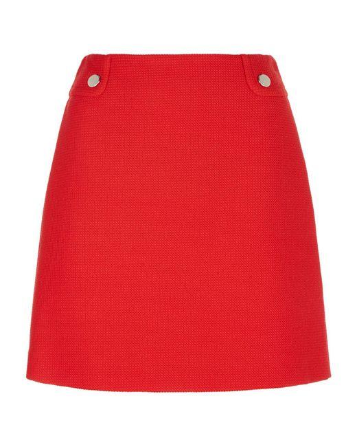 Claudie Pierlot   Textured Skirt, Red, Fr 40   Lyst
