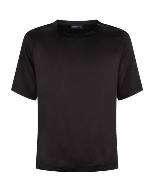 Meng - Black Satin Lounge Top for Men - Lyst