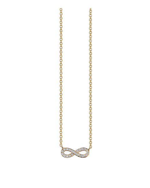 Sydney Evan   White Pav Diamond Infinity Necklace   Lyst