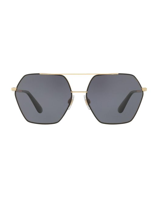 Dolce & Gabbana - Black Dg4157 Irregular Sunglasses - Lyst