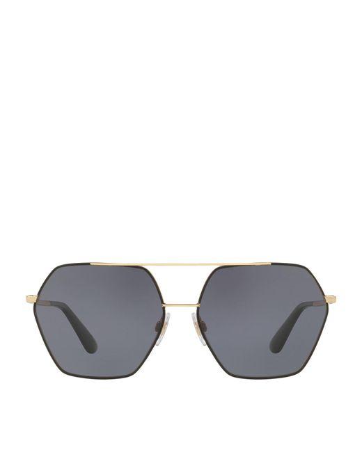 Dolce & Gabbana | Black Irregular Sunglasses | Lyst