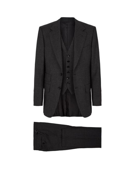 Tom Ford Gray Check Suit for men