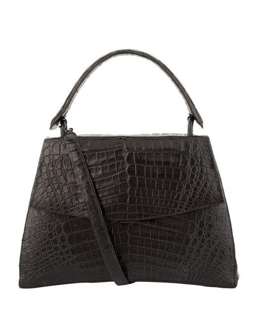 Nancy Gonzalez - Black Crocodile Jolene Top Handle Bag - Lyst