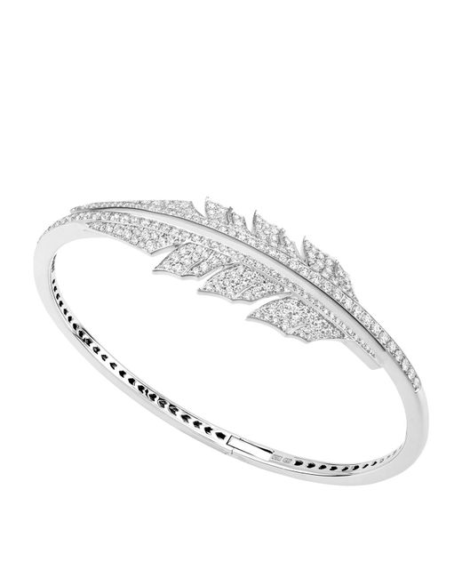 Stephen Webster - Metallic Magnipheasant Pavé Open Feather Bracelet - Lyst