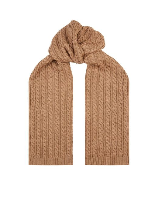 Eton of Sweden Brown Cable Knit Wool Scarf for men