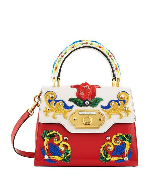 Dolce & Gabbana - Red Welcome Majolica Top Handle Bag - Lyst