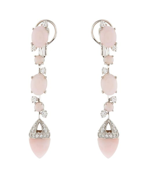 Chateau Euphorie - White Clara Opal Drop Earrings - Lyst