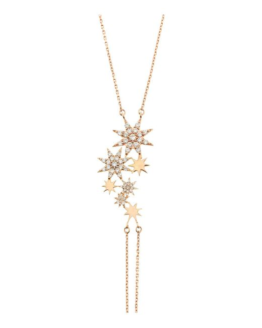Bee Goddess - Metallic Ishtar Seven Stars Diamond Hand Bracelet - Lyst