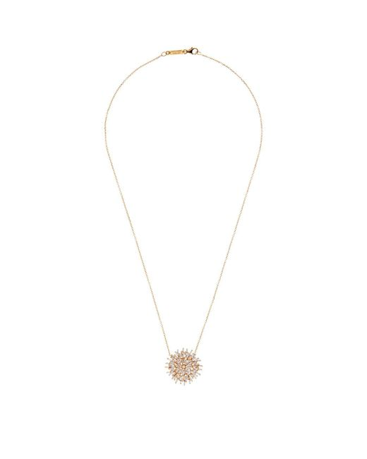 Suzanne Kalan | White Gold Diamond Burst Necklace | Lyst