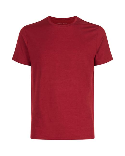 Derek Rose | Red Lounge T-shirt for Men | Lyst