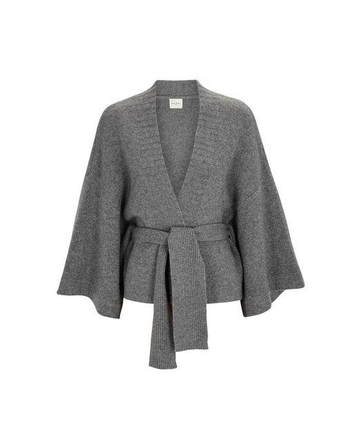 Le Kasha - Gray Iwikara Grey Cashmere Cardigan - Lyst