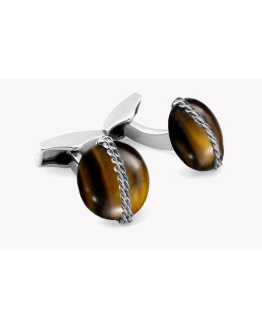 Tateossian Tiger eye cufflinks VS3fDj