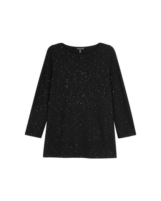 Eileen Fisher | Black Embellished Wool Jumper | Lyst