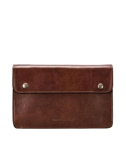 Maxwell Scott Bags - Brown High Quality Tan Men S Leather Wrist Bag for Men - Lyst