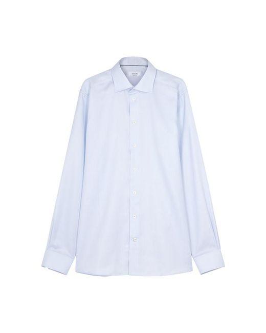 Eton of Sweden - Blue Contemporary Geometric-jacquard Cotton Shirt - Lyst