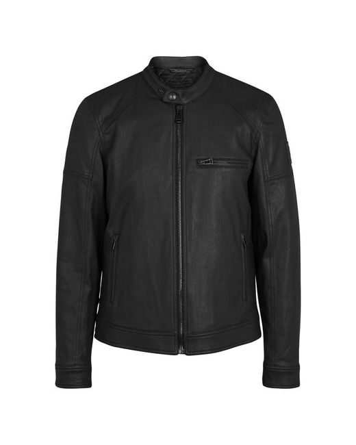 Belstaff - Black Beckford Coated Cotton Biker Jacket - Size 38 for Men - Lyst