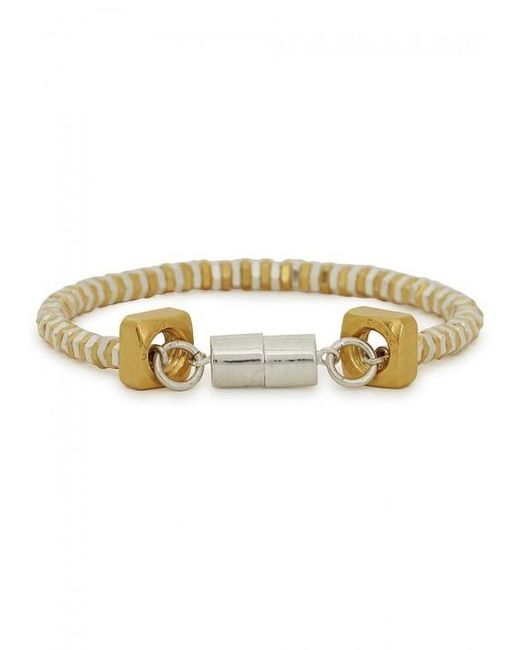 Alice Menter | Metallic Mandie Gold And Silver-plated Bracelet | Lyst