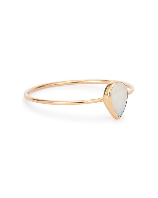 Catbird | Metallic Teardrop Opal 14kt Gold Ring | Lyst