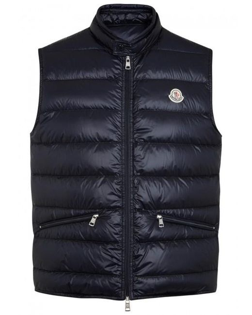 Moncler | Blue Gui Quilted Shell Gilet - Size 3 for Men | Lyst