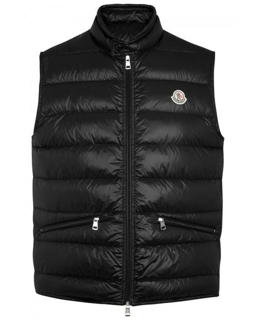 Moncler   Black Gui Quilted Shell Gilet - Size 6 for Men   Lyst