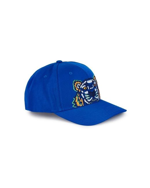KENZO - Blue Tiger-embroidered Canvas Cap for Men - Lyst