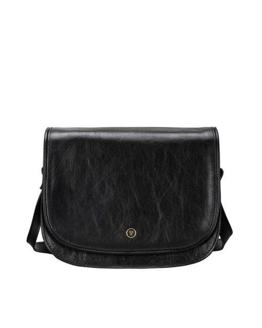 Maxwell Scott Bags Women S Black Italian Leather Saddle Bag Lyst