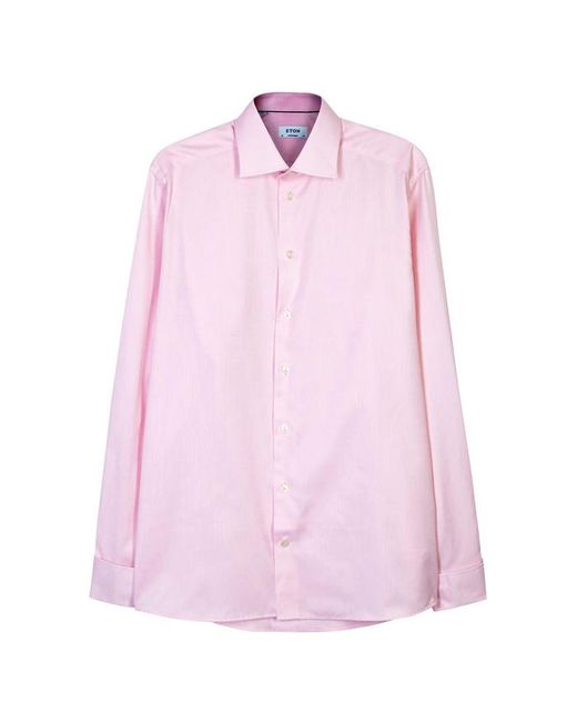 Eton of Sweden - Pink Contemporary Herringbone Cotton Shirt - Size 16 for Men - Lyst