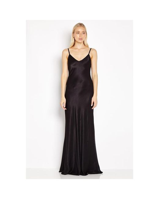 Ghost - Black Mel Satin Slip Maxi Dress  - Lyst