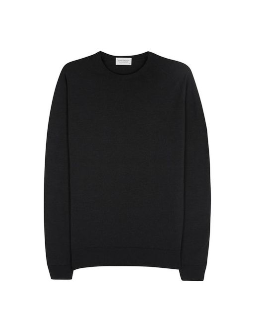 John Smedley - Lundy Black Fine-knit Wool Jumper - Size S for Men - Lyst