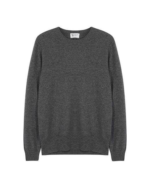 Johnstons - Gray Charcoal Cashmere Jumper - Size 38 for Men - Lyst