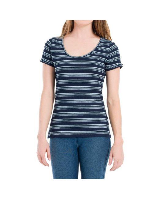 Max Studio - Blue Indigo Striped Jersey Tee - Lyst
