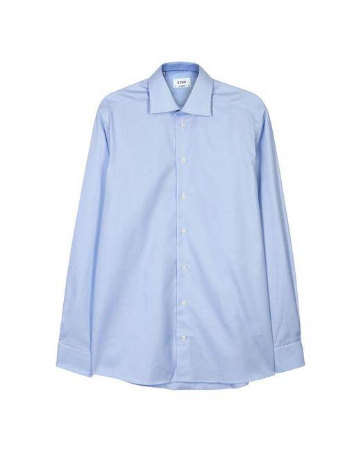 Eton of Sweden - Blue Contemporary Herringbone Cotton Shirt - Size 16.5 for Men - Lyst