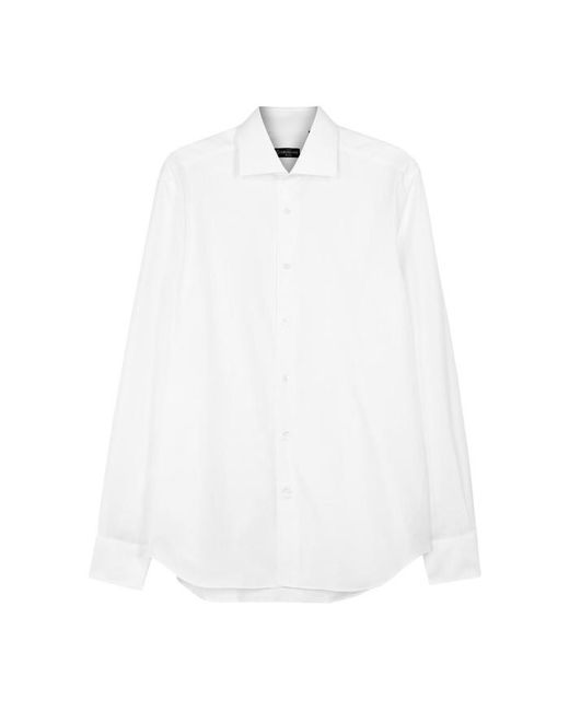 Corneliani - White Cotton Shirt - Size 16.5 for Men - Lyst