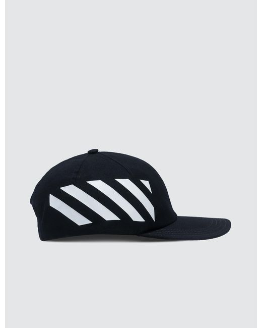 f3f757a844c Lyst - Off-White c o Virgil Abloh Diag Baseball Cap in Black for Men ...