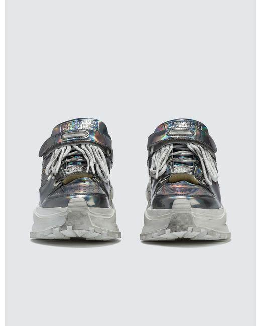 best service eda3c 16962 ... Maison Margiela - Metallic Retro Fit Low Top Chunky Sneakers - Lyst ...