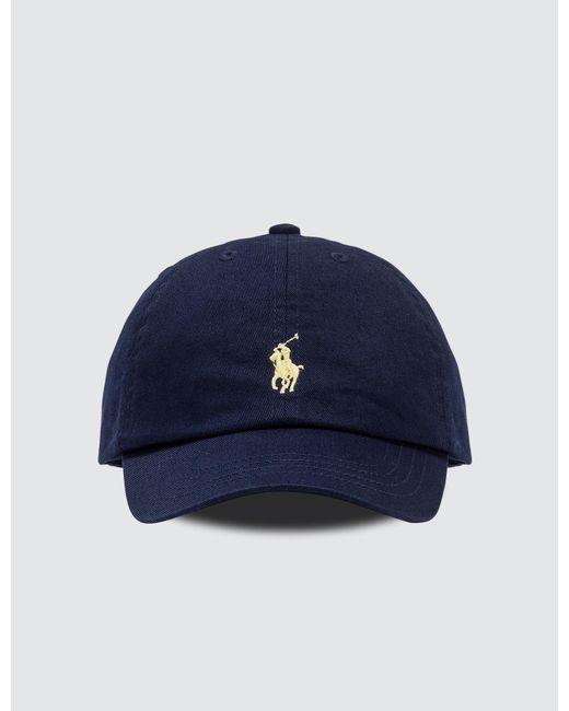 1b460b98b3ec6 Polo Ralph Lauren - Blue Classic Cap for Men - Lyst ...