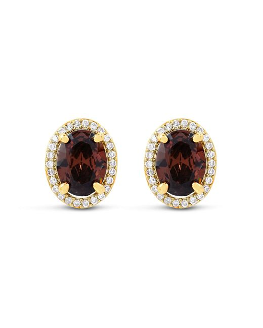 Henri Bendel | Brown Luxe Oval Halo Studs | Lyst