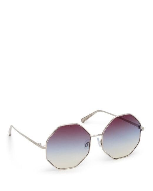 4f76839ccf Henri Bendel - Metallic Diana Hexagon Sunglasses - Lyst ...